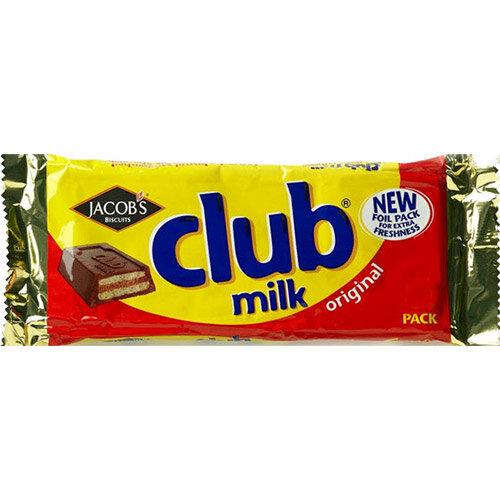 Jacobs Club Milk Chocolate Biscuit Pack Of 6 426494