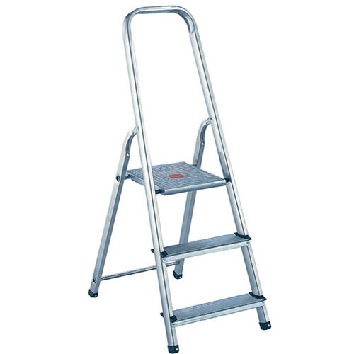 Surprising Alumiunium Step Ladder 3 Steps Plus Height 0 57M Silver 358737 Alphanode Cool Chair Designs And Ideas Alphanodeonline