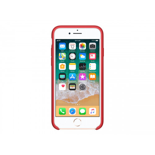 custodia in silicone per iphone 8 / 7 - (product)red