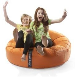 Admirable Round Orange Bean Bag Large For Indoor Or Outdoor Use Ocoug Best Dining Table And Chair Ideas Images Ocougorg