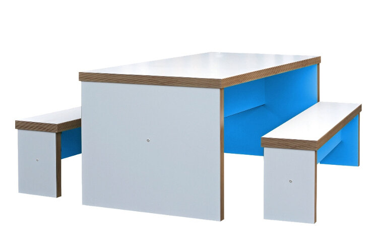 Fantastic Block Colour Canteen Table And Benches Huntoffice Co Uk Ocoug Best Dining Table And Chair Ideas Images Ocougorg