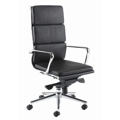 Aria C High Back Designer Leather Office Armchair Black Ch1 Hunt Office Uk