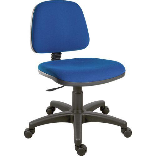 Terrific Ergoblaster Medium Back Fabric Upholstered Typist Office Chair Blue Theyellowbook Wood Chair Design Ideas Theyellowbookinfo