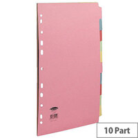 Concord Commercial Subject Dividers 10-Part A4 Assorted 72099/J20