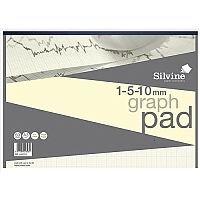 Silvine Designer Graph Pad 85gsm 1mm 5mm 10mm Grid 50 Sheets A3 Cream Wove