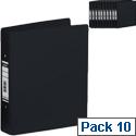 Elba Black A4 2 Ring Binder 25mm Pack of 10 400001512