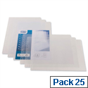 Bantex A3 Oblong Punched Pocket Clear Pack 25