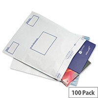 GoSecure White Extra Strong Polythene Envelopes 460x430mm Pack of 100