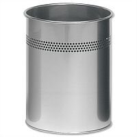 Durable Round Silver Bin 15 Litres 3300/23