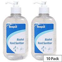 Teepol Alcohol Hand Sanitizer 10 X 500ml