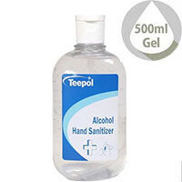 Teepol - Fully Approved Ethanol Based Hand Sanitiser Gel 500ml PCS 97238 Single