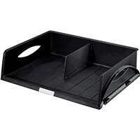 Leitz Sorty Jumbo Letter Tray W490xD385xH125mm Landscape A3 Maxi Black Ref 52320095