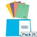 Elba Bright Square Cut Folder Foolscap Assorted 26710 Pack 25