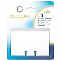 Rolodex Clear Business Card Sleeves 57 x 102mm 67691 Pack 40