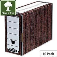 Fellowes Bankers Premium Woodgrain Transfer File Pack 10