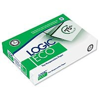 Logic Eco A4 80gsm White Copier Paper Box of 2500 Sheets