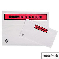 Packing List Envelopes Polythene A7 Documents Enclosed Pack 1000