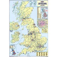 British Isle Map Unframed 12.5 Miles/inch Scale Map Marketing UKM