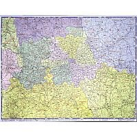 London Postal Districts Map Unframed 1 Mile/inch Map Marketing GLPC