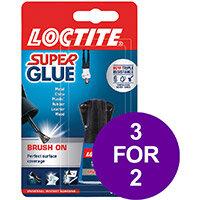 Loctite Super Glue Easy Brush in Anti-spill safety Bottle 5g Ref 87819150 (3 For 2) Apr-Sep 2019