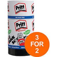 Pritt Stick Glue Solid Washable Non-toxic Jumbo 90g Ref 45552966 Pack of 6 (3 For 2) Jul-Sept 2019