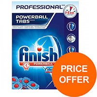 Finish Professional Powerball Dishwasher Tabs Ref RB088851 (Pack 125) (Price Offer) Jul-Sep 2019
