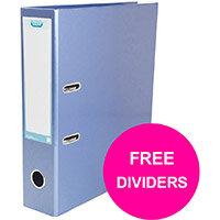 Elba Classy Lever Arch File 70mm Sp A4+ Met Blu Ref 400021023_XX1220 Pack of 10 (FREE Dividers) Jan12/20