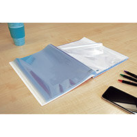 Oxford Punched Pocket Pad 60 Pockets A4 Glass Clear Ref 400129426_XX1220 (2 for 1) Jan 12/20