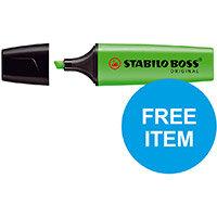 Stabilo Boss Highlighters Chisel 2-5mm Grn Ref 70/33/10 Pack of 10 (x2 & FREE 88 Fineliner Pk 10) Oct-Dec 2019