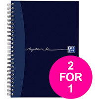 OxfordMyNotes NotebookWirebound 90gsm Ruled Margin Perforated Punched 2 Holes 200pg A5 Ref 100082372 Pack of 3 (2 for 1) Jan12/20