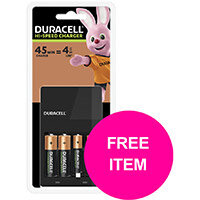 BP Duracell CEF14 Battery Charger Hi Speed for AA/AAA (FREE AAA Batteries Pk4) Mar 2020