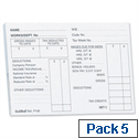 Guildhall PAYE Wages Slips Pad 100 Leaf 89x127mm P100 Pack 5