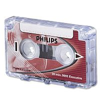 Philips Mini Cassette Dictation 30 Minutes Total 15 per Side 0005 Pack 10