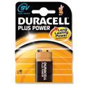 Duracell Plus 9V Alkaline Battery MN1604B1 Pack 1