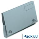 Elba Document Wallet Full Flap Foolscap Blue Pack of 50