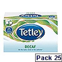 Tetley Tea Bags Decaffeinated Drawstring in Envelope Ref 1285 [Pack 25]