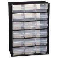 Raaco Steel Cabinet 18 Polypropylene Drawers Black Ref 110129
