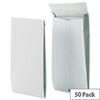 Securitex Tear Resistant C4 34mm Gusset Envelopes Pocket 130gsm White Pack of 50