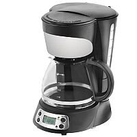 Filter Coffee Maker 12 Cups Digital Black and Stainless Steel