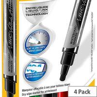 Bic Velleda Whiteboard Markers Large Bullet Tip Liquid Ink Assorted 902099 [Pack 4]