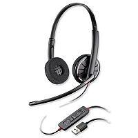 Plantronics Blackwire Binaural C320-M Headset - Lightweight - USB Compatible - Black - Ref 85619-01