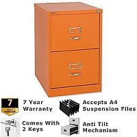 Etonnant ... Bisley GLO Filing Cabinet 2 Drawer Orange Ref BS2C