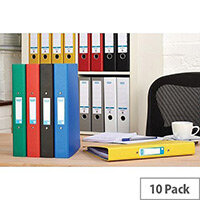 Elba Ring Binder Paper On Board 2 O-Ring 25mm Size A4 Plus Assorted Ref 400033510 [Pack 10]