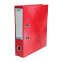 Elba Lever Arch File Laminated Gloss Finish 70mm Capacity A4 Red