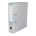 Elba Lever Arch File Laminated Gloss Finish 70mm Capacity A4 Metallic Silver