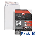 Plus Fabric 120gsm Envelopes C4 Gusset White Pack 10 Ref R0007