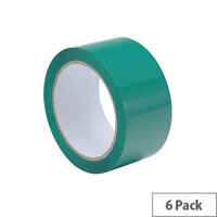 Polypropylene Tape 50mmx66m Green Ref GCP50 [Pack 6]