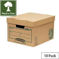 Fellows Bankers Box Earth Series Budget Storage Box Brown (Pack 10) Ref 4472401
