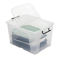 Strata Smart Storage Box Clip on Lid 65 Litres Clear