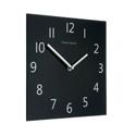 Wall Clock Square Black Face